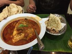Fishhead Curry in Singapore (Banana Leaf)