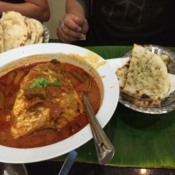 Fishhead Curry in Singapore (Banana Leaf)